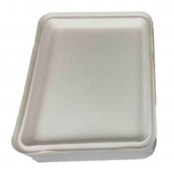 Couvercle pour Plateau repas 5 compartiments en fibre de canne -par 50