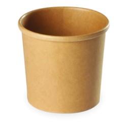 Pot à soupe carton recyclable brun 360ml par 500