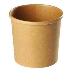 Pot à soupe carton recyclable brun 480ml par 500