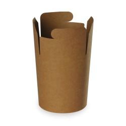 pot à pâtes recyclable kraft brun 480ml - 500 pièces