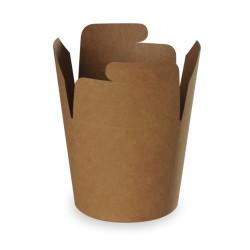pot à pâtes recyclable kraft brun 780ml - 500 pièces