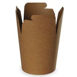 pot à pâtes recyclable kraft brun 960ml - 500 pièces