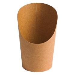 Pots wrap carton recyclable brun 165ml par 1000 pièces