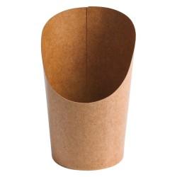 Pots wrap carton recyclable brun doublé PE 165ml par 1000 pièces