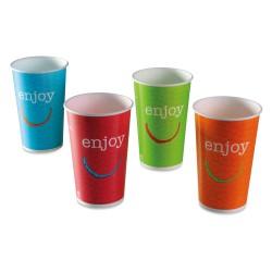 Gobelet enjoy carton recyclable boissons froides 40/50cl par 1000 couleurs panachées
