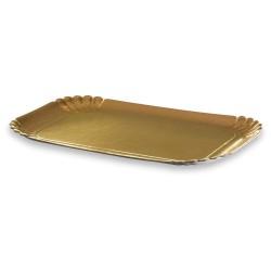 plateau traiteur or 19x28cm par 100 unités