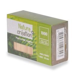 pique bois 2 pointes 6.5cm recyclable et compostable par 1000