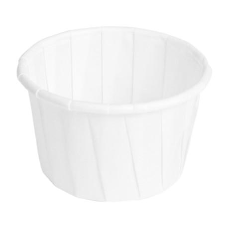 pot papier soufflé 37ml diam 42 compostable et recyclable -par 250