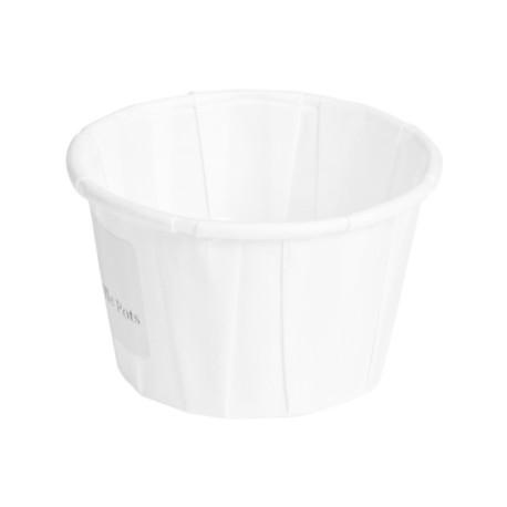 pot papier soufflé 59ml diam 54 compostable et recyclable -par 250
