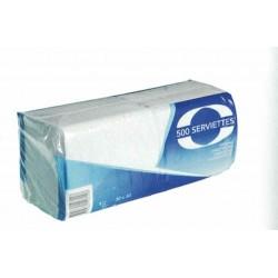 Serviettes 1 pli blanc 30x30cm- par 5000