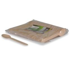 cuillères à soupe compostables bois 16,5 cm par 1000 pièces