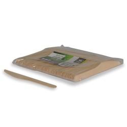 couteaux compostables bois 16,5 cm par 1000 pièces