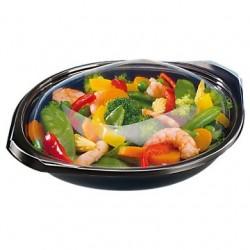 Boite repas micro-ondable 500ml avec couvercle transparent, par 40pcs