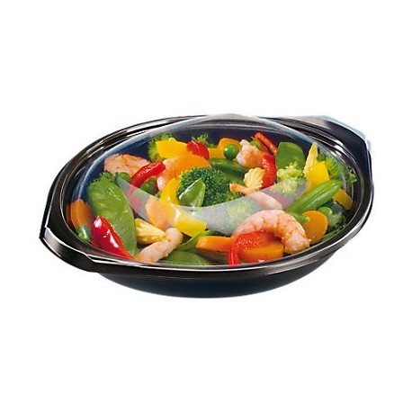 Boite repas 500ml avec couvercle transparent, par 240pcs
