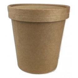 Pot à soupe kraft brun 50cl par 50
