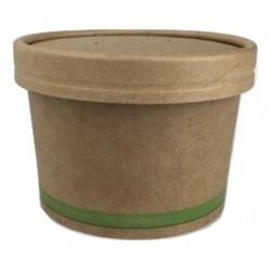 Pot à soupe kraft brun 24cl par 50
