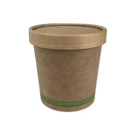 Pot à soupe kraft brun 36cl par 50