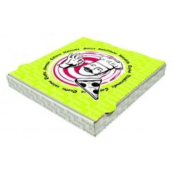 "Boite pizza 33x33x3.5cm - impression ""Pep's""s"