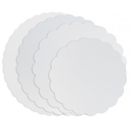 Ronds blancs festonnés-Diamètre 19 cm