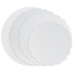 Ronds blancs festonnés-Diamètre 21 cm