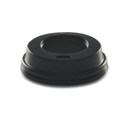 Couvercle noir voyageur pour gobelet carton 10cl - par1000