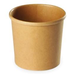 Pot à soupe carton recyclable brun 237ml par 500
