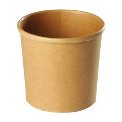 Pot à soupe carton recyclable brun 780ml par 500