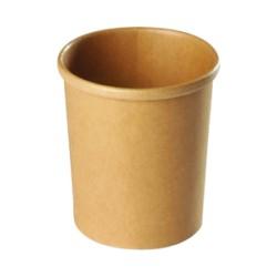 Pot à soupe carton recyclable brun 960ml par 500