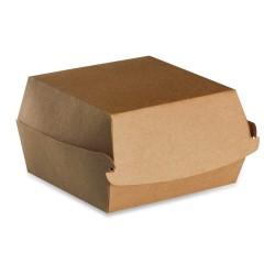 Boite burger recyclable 100 x 100 carton brun par 600 pièces