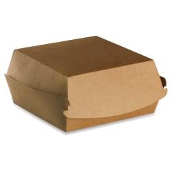 Boite burger recyclable 120 x 116 carton brun par 600 pièces