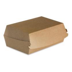 Boite burger recyclable 155 x 100 carton brun par 600 pièces