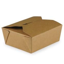 food box recyclable carton brun 480ml - par 450 pièces