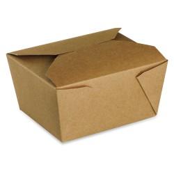 food box recyclable carton brun 780ml - par 450 pièces