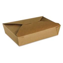 food box recyclable carton brun 1500ml - par 200 pièces