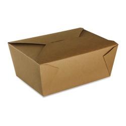 food box recyclable carton brun 2950ml - par 160 pièces