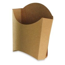 Cornet Frites recyclable carton brun petit modèle par 1000