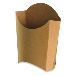 Cornet Frites recyclable carton brun moyen modèle par 1000