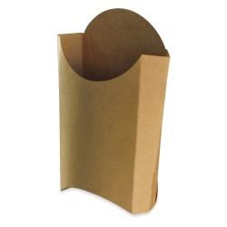 Cornet Frites recyclable carton brun grand modèle par 1000