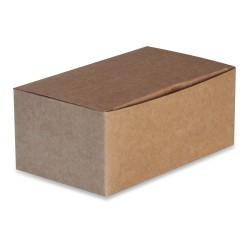 boîte take away recyclable en carton brun petit modèle par 250