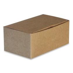 boîte take away recyclable en carton brun moyen modèle par 250