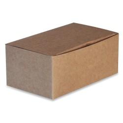 boîte take away recyclable en carton brun grand modèle par 250